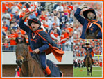 Cavalier on Horseback Collage